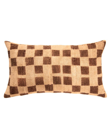 checkerboard mud cloth lumbar pillow