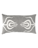 tulips lumbar pillow in grey