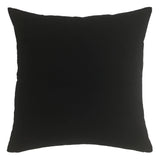 vines pillow in black