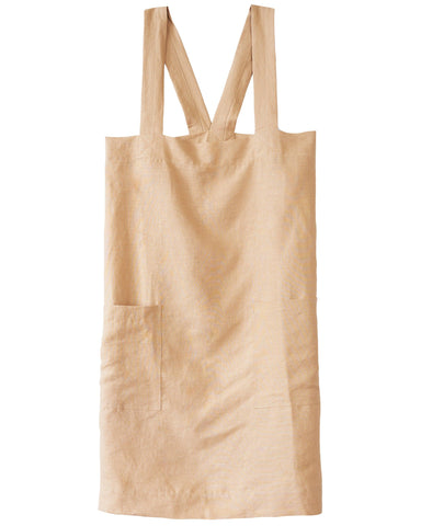 criss cross apron classic fit in camel