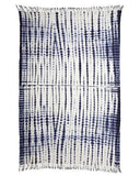 tie dye indigo throw -