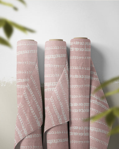 fabric by the yard vines print in blush