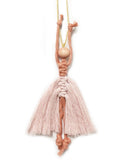 ballerina ornament in pink