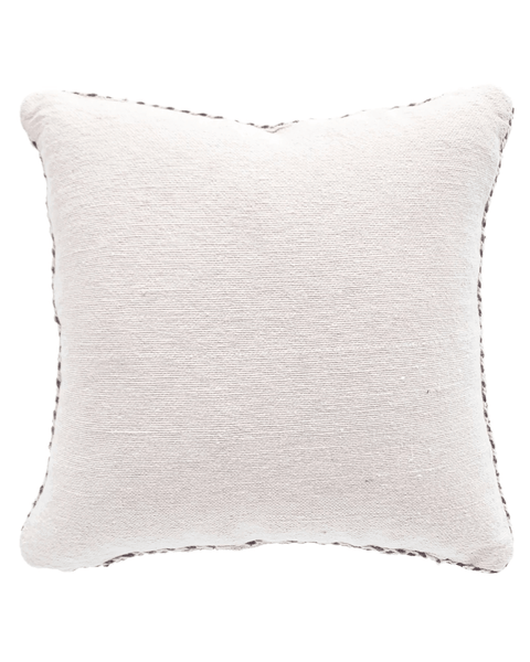 moroccan braided trim pillow in cream puff