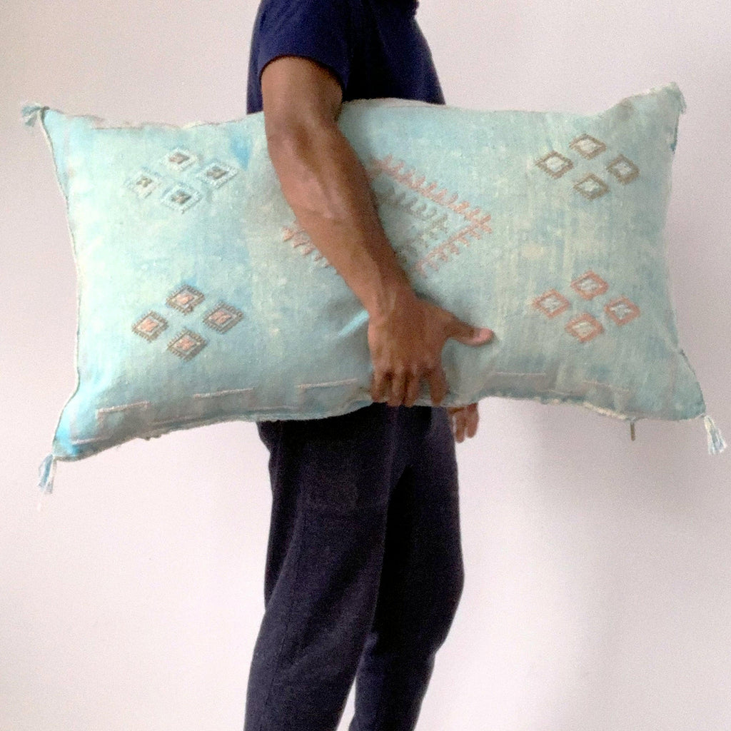 moroccan cactus silk lumbar pillow surf
