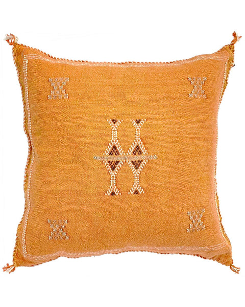 moroccan cactus silk pillow rust