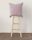 chindi pillow in lilac