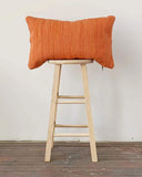 chindi lumbar pillow in pottery