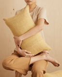 birdseye mud cloth lumbar pillow in faded blonde north south