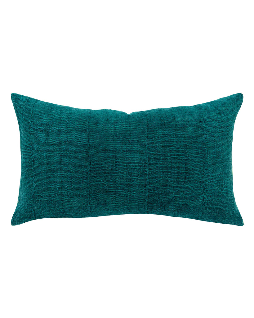 solid mud cloth lumbar pillow in pine