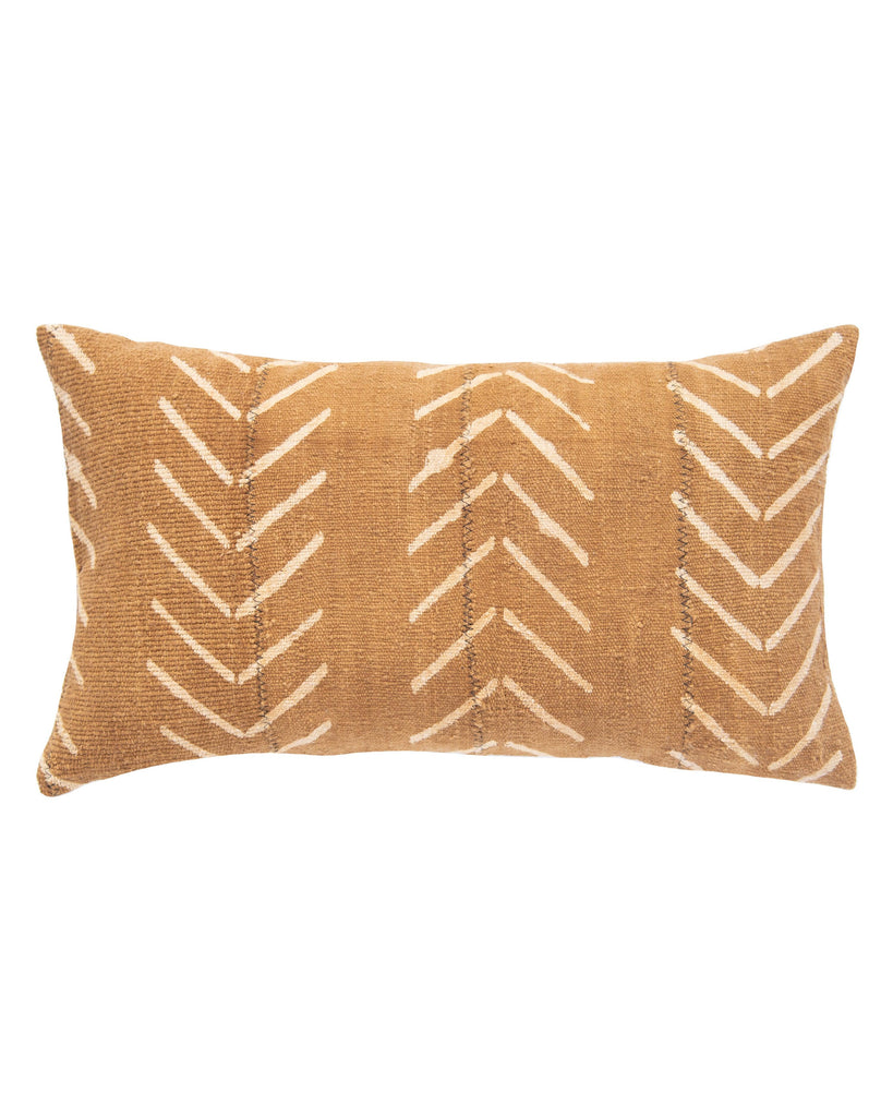 birdseye mud cloth lumbar pillow in amber