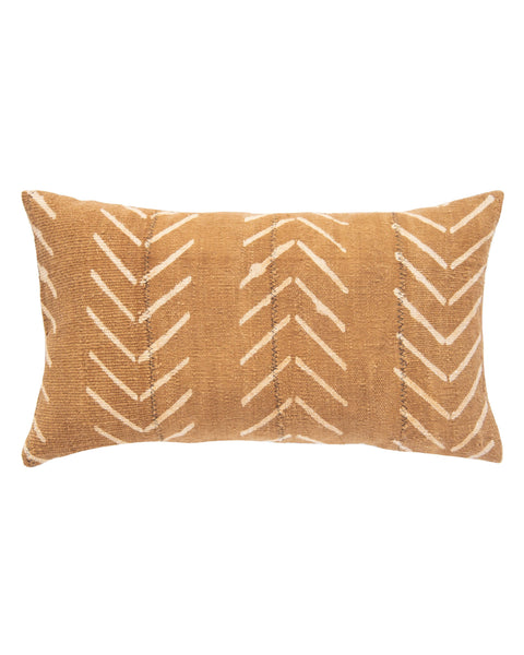 birdseye mud cloth lumbar pillow in amber MADE TO ORDER