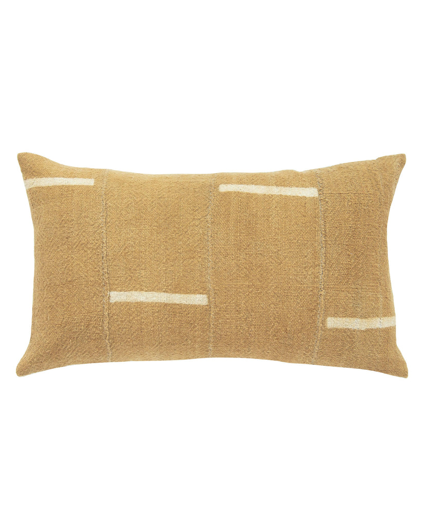dash mud cloth lumbar pillow in tan