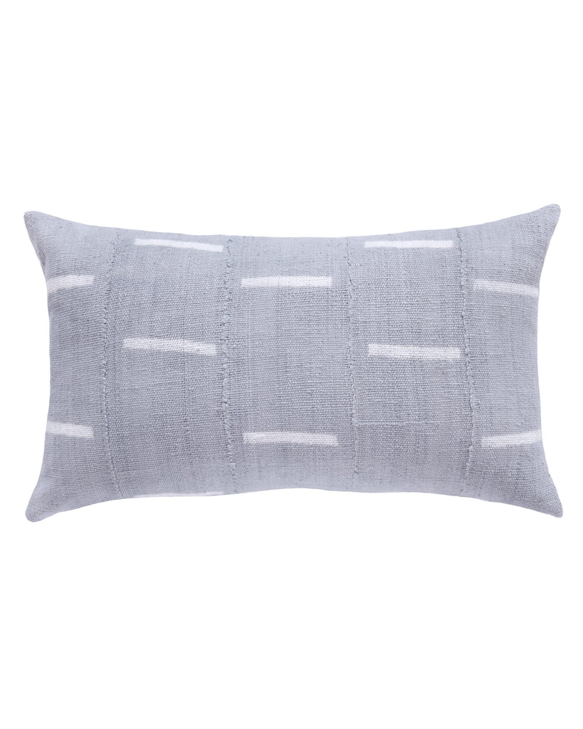 dash mud cloth large lumbar pillow in grey