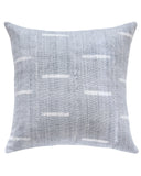 dash mud cloth pillow in grey