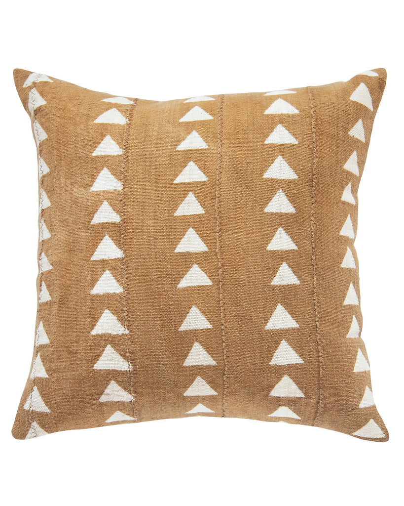 triangle mud cloth pillow in amber