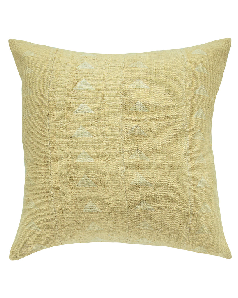 triangle mud cloth pillow in faded blonde north