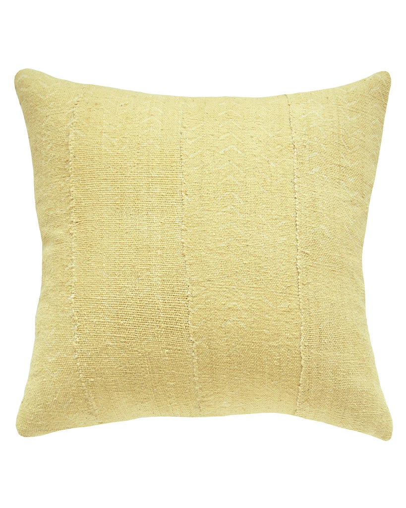faded birdseye mud cloth pillow in blonde MADE TO ORDER