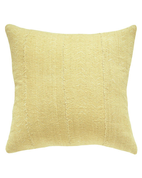 birdseye mud cloth pillow in faded blonde north south