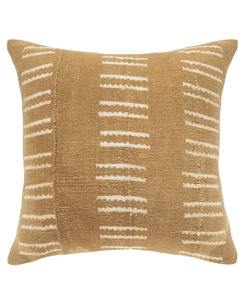 snake bone mud cloth pillow in tan MADE TO ORDER