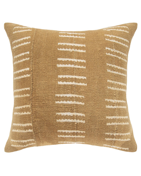 snake bone mud cloth pillow in tan