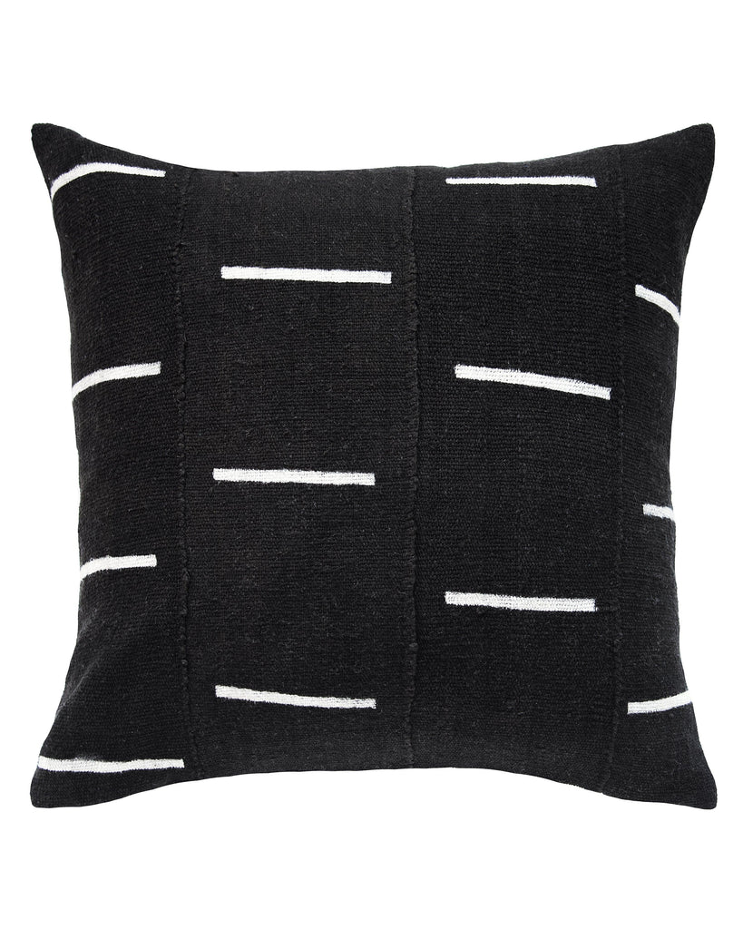 dash mud cloth pillow in black MADE TO ORDER