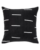 dash mud cloth pillow in black