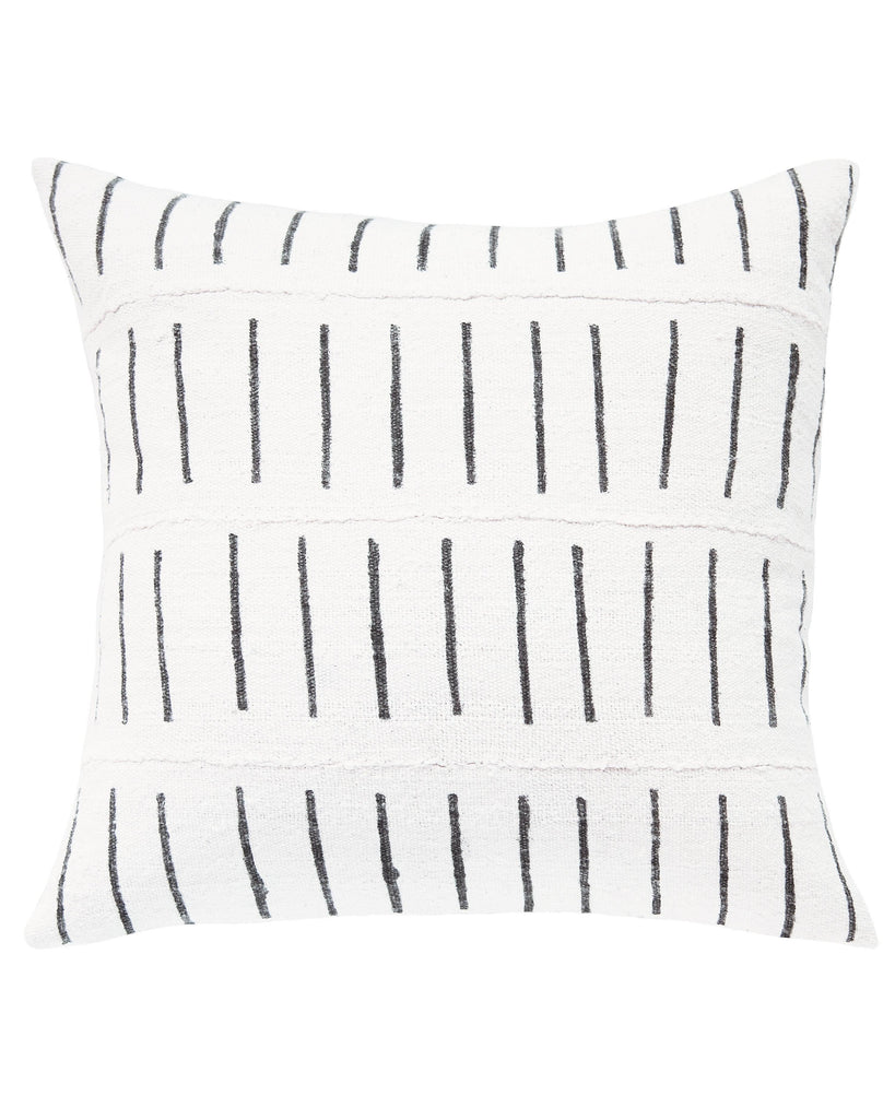 dash mud cloth pillow in white