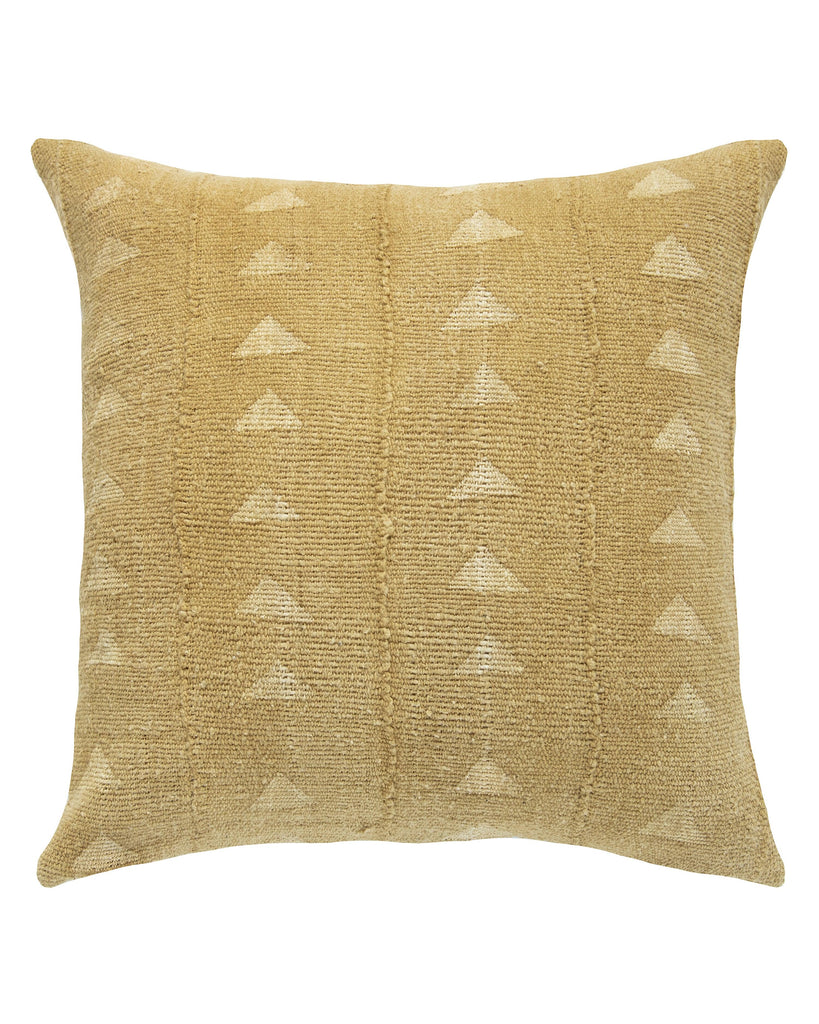 triangle mud cloth pillow in mustard MADE TO ORDER