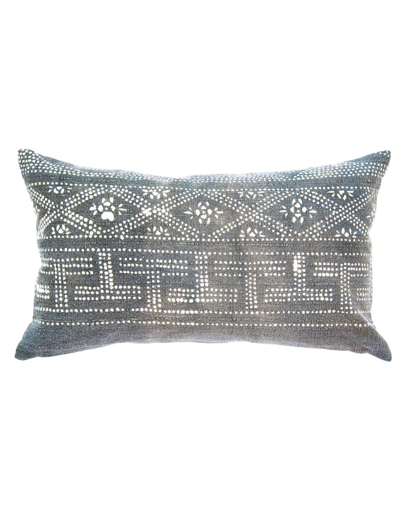 hmong lumbar pillow in grey