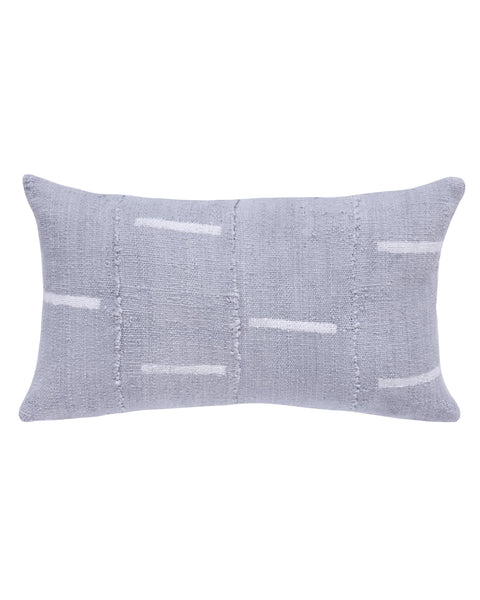 dash mud cloth lumbar pillow in grey MADE TO ORDER