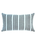 striped mud cloth lumbar pillow in faded aqua north south