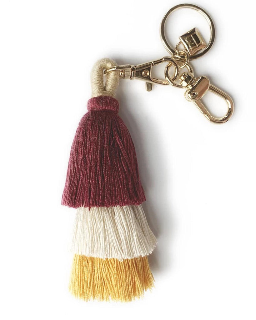 tricolor tassel keychain