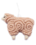 woolly sheep ornament in creamery