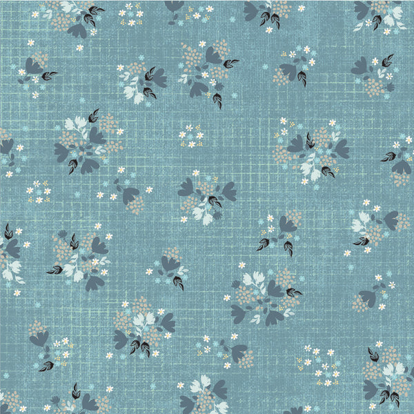 Farmhouse Fields - Fancy Free Aqua - 1/4M