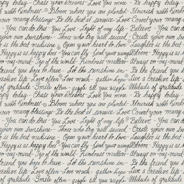 Farmhouse Fields - Love Notes Cream - 1/4M