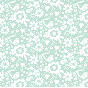 1/4M Sweet Bee Designs- In The Meadow - Garden Teal