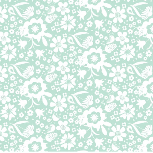 Sweet Bee Designs- In The Meadow - Garden Teal - 1/4M