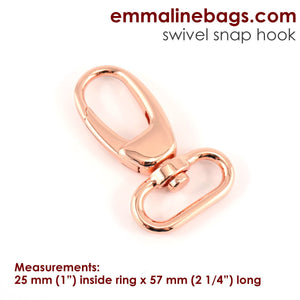 "Swivel Hooks- 1"" (25mm) Rose Gold/ Copper"