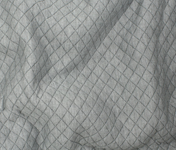 Quilted Knit - Light Grey - 1/2M