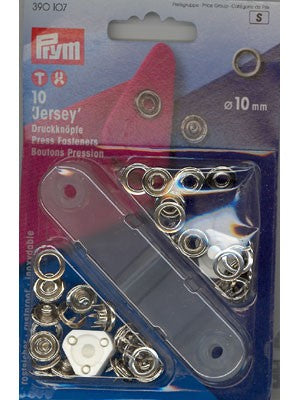 Prym- Jersey Snap Fastener Kit, 10mm, 10 count