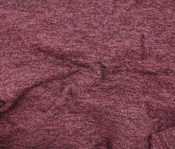 Sweater Knit - Burgundy Sparkle - 1/2M