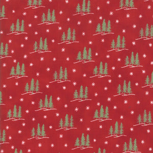 Holiday Lodge  - Trees Berry Red - - 1/4M