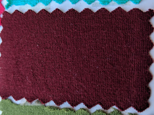 Cotton Spandex - Merlot -  1 Meter and 2 Meter Increments