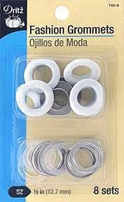 "Fashion Grommets 1/2"" White"