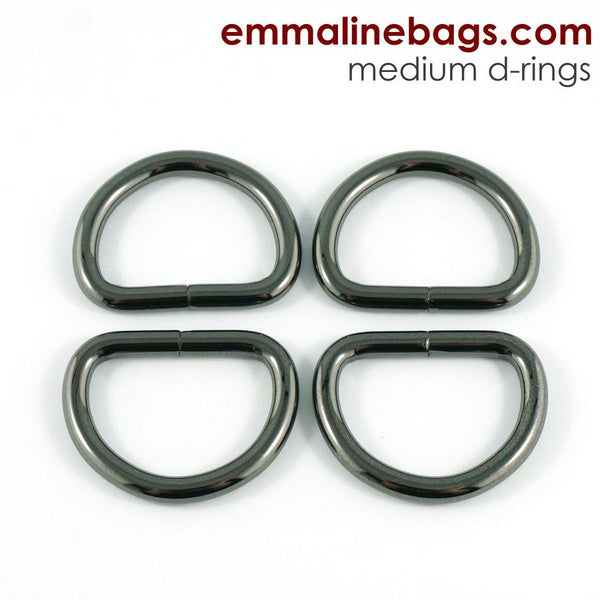 "D Rings- 1"" (25mm) Gunmetal"