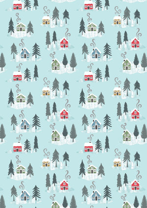 Lewis & Irene - Snow Day -  Snow Day Houses on Icy Blue