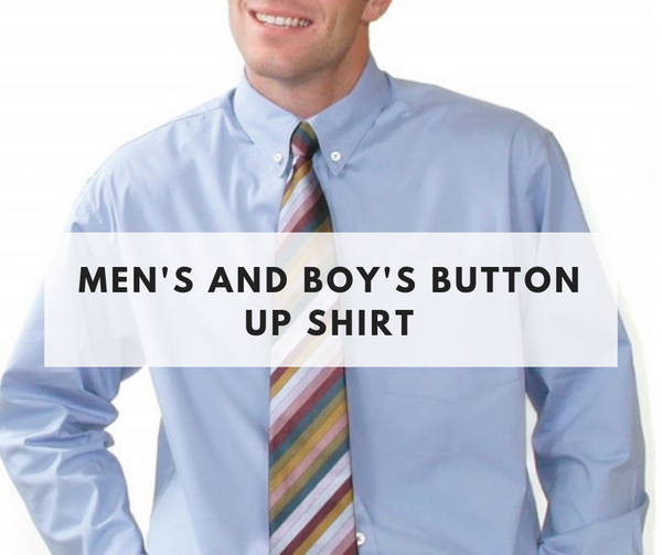 Men's and Boy's Button up shirt class - April 6th - Weekend