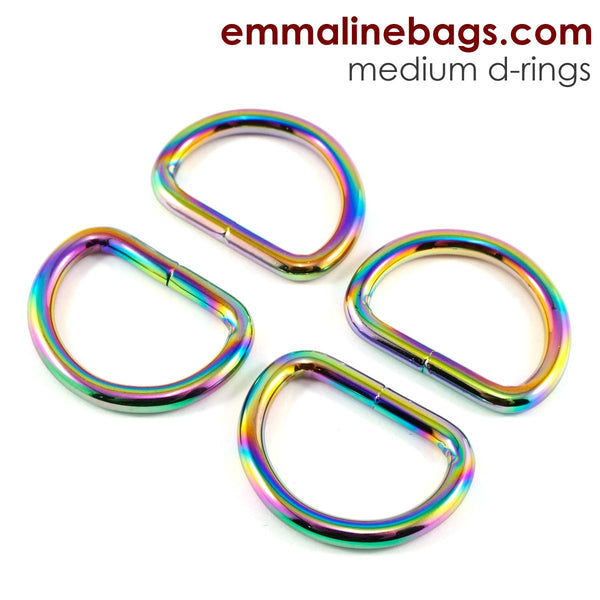 "D Rings- 1"" (25mm) Rainbow"