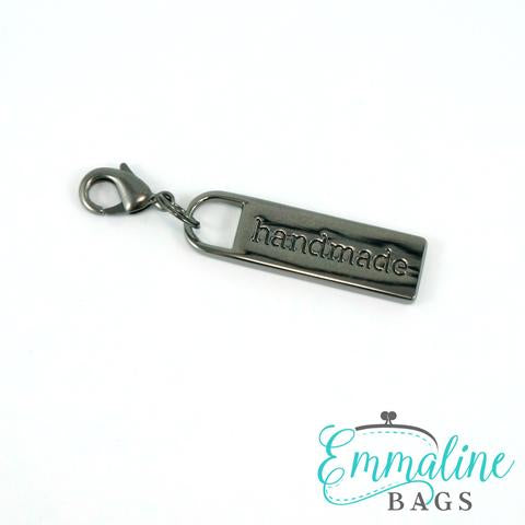 "Zipper Pulls: ""handmade"" in Gunmetal Finish"
